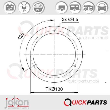 Feux LED de recul   12V   Jokon E2-06013