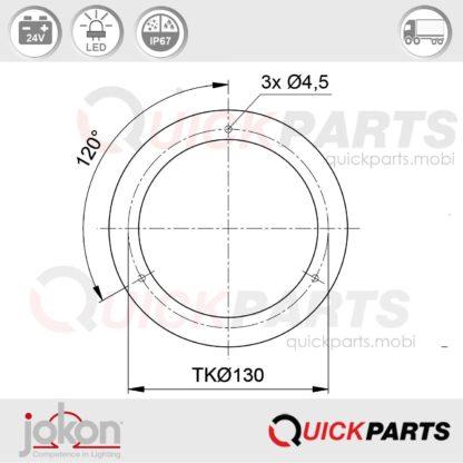 LED Reversing Light / refl. | 24V | Jokon E2-06013