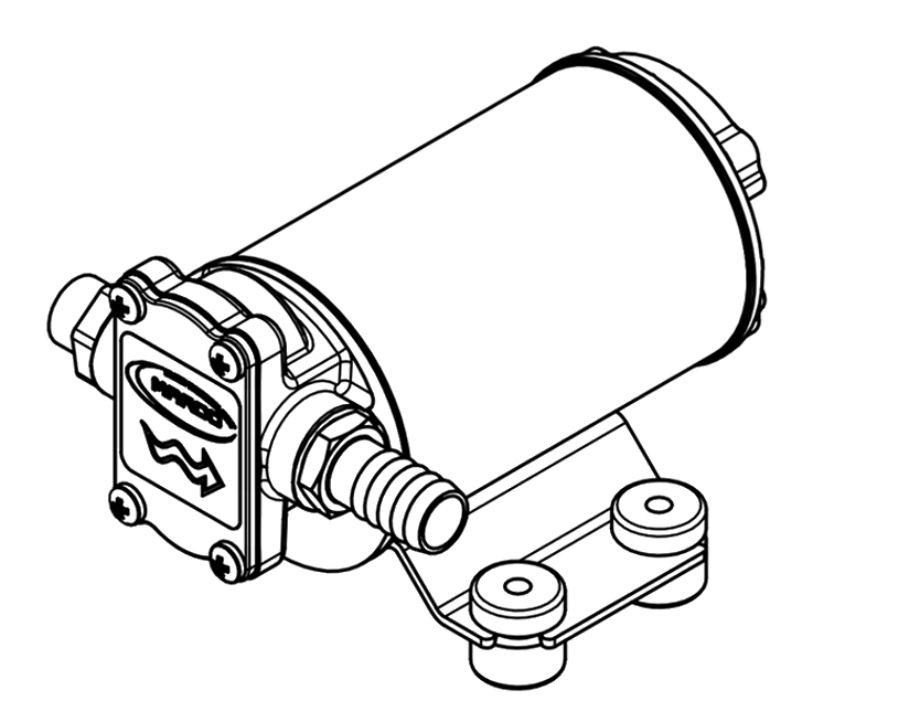 Self-Priming Electric Pump For Various Liquids | 12V | Marco UP3/OIL, Dimensions, Marco 164 020 12, UP3/OIL