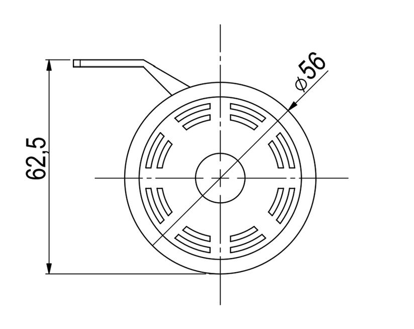 Back-up beeper / alarm | 12-80V | Dimensions, Marco 104 080 25, BK90