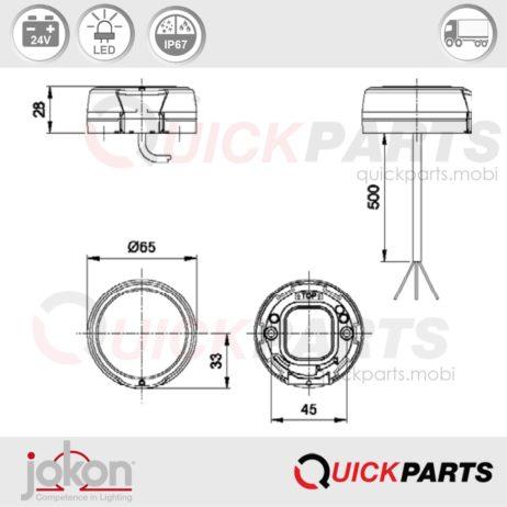 LED Stop / Tail Light | 24V | Jokon E13-34663