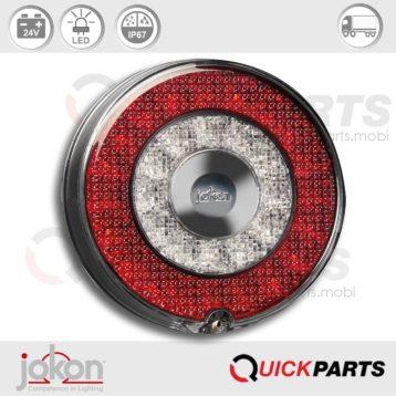 LED-Blink-Brems-Schlussleuchte | 24V | Jokon E13-34660 E13-34664