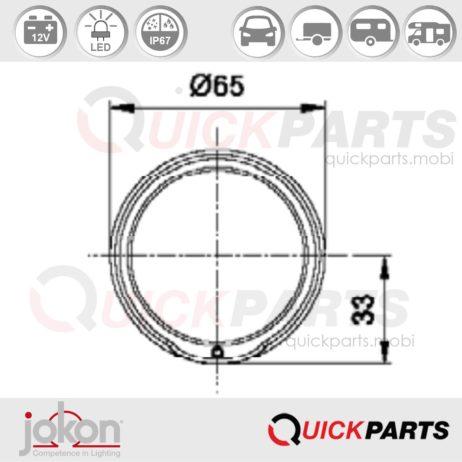 LED DI / Cat. 2a | 12V | Jokon E13-34660 E13-14418