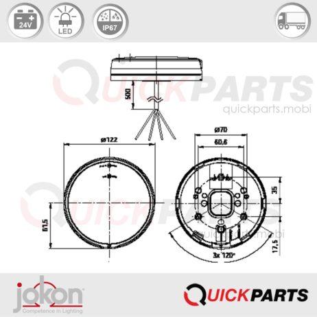 LED Mistlamp met Reflector | 24V| Jokon E13-34811