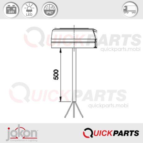 Luz de marcha atrás LED | 24V | Jokon E13-34808