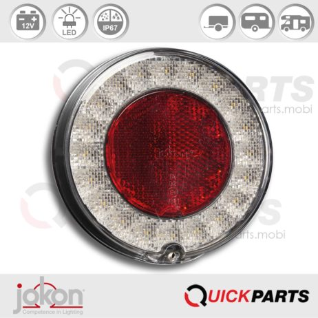 Feu LED de recul avec catadioptre   12V   Jokon E13-34810