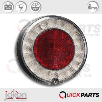 Luz de marcha atrás LED - Reflector reflejo |24V| Jokon E13-34810 | WR 780/24V