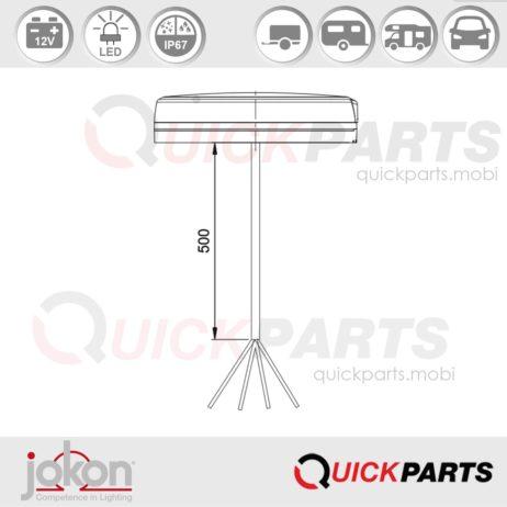 LED Fog / Reversing Light / Reflex Refl   12V   Jokon E13-34811 E13-34810