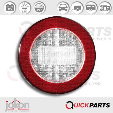 LED Achteruitrijlicht met reflector | 12V | Jokon 13.6018.000, E2-06013