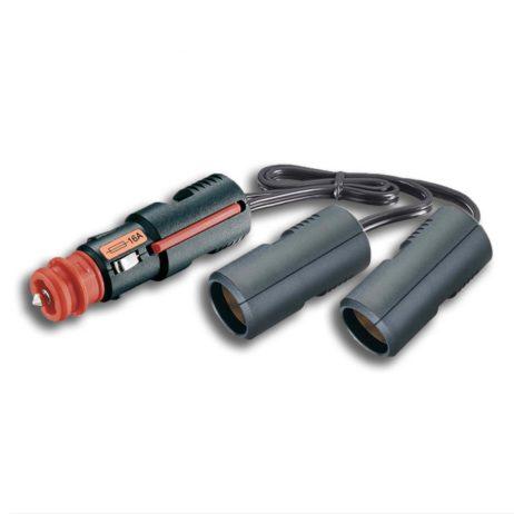 Conector hembra doble, fusible integrado | 12-24V