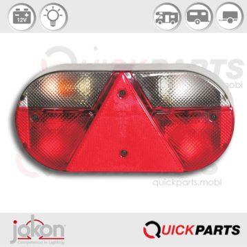 Feu Multifonction, catadioptre triangulaire intégré | 12V | Jokon E1-1206