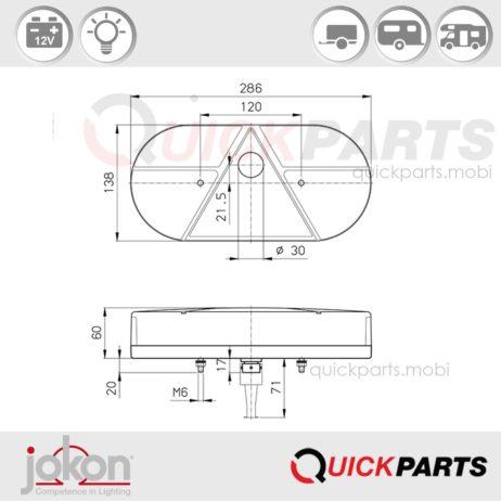 Multiple Function Light triangle ref | 12V | Jokon E1-1206